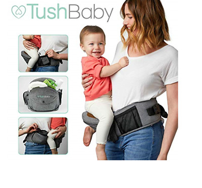 TushBaby The Only Safety Certified Hip Seat Baby Carrier 0-36 Months/ 8-44 lbs