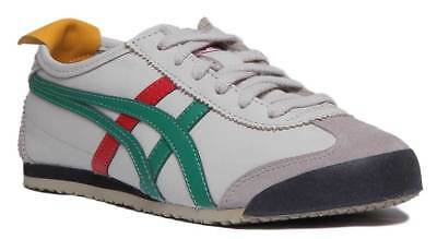Onitsuka Tiger Mexico 66 Womens Leather Birch Trainers In Green Size UK 3 - 8