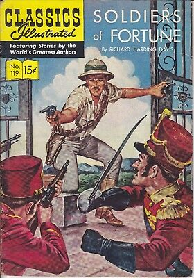Classics Illustrated 119 SOLDIERS OF FORTUNE 1954 1st USA Edn Schaffenberger Art
