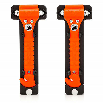 2pcs Car Emergency Escape Tool with Car Window Breaker and Seat Belt Cutter