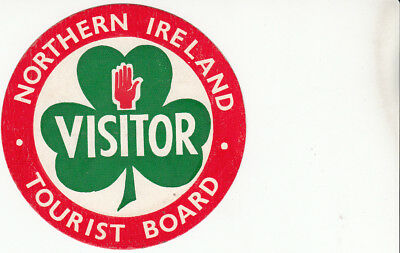 Unused Car sticker - Northern Ireland Tourist Board Visitor