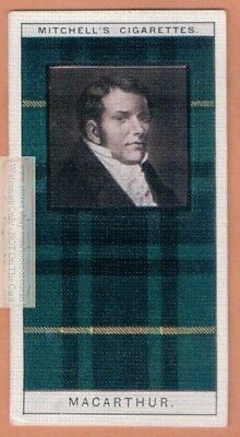 Macarthur Family Clan Celtic Tartan Pattern Scotland Kilt c90 Y/O Trade Ad Card