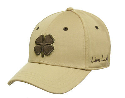 NEW Black Clover Premium Clover 73 Tan Brown Fitted S M Golf Hat  a68406f3795c