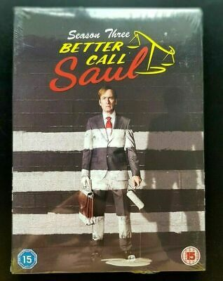 BETTER CALL SAUL SEASON 3 DVD Brand New and Sealed UK REGION 2 Free Fast Postage