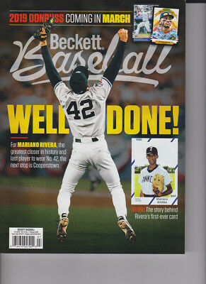 February 2019 Beckett Baseball Price Guide Magazine Vol 19 No 2 Mariano Rivera