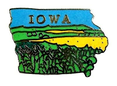 Iowa State Outline Hat Tac or Lapel Pin