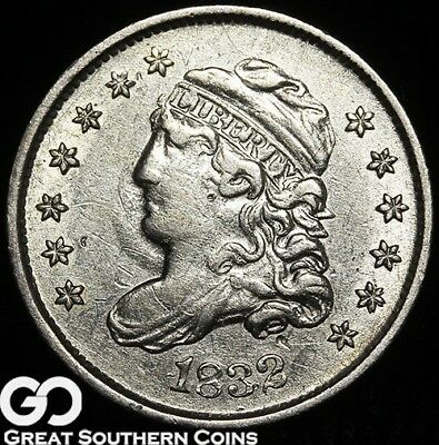 1832 Capped Bust Half Dime, Nice White Early Silver Type