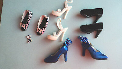 4 Pairs Of Doll Shoes Some For Tonner Size Dolls!