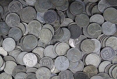 1943 D Lincoln Wheat Cent Steel Problem Free Vg - Xf - Au 500 Coins
