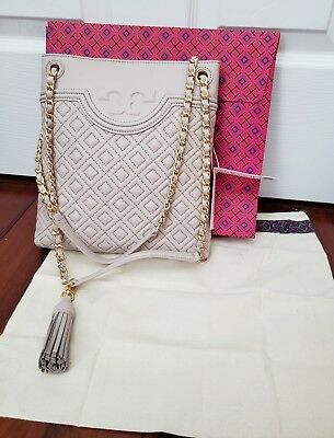 7ea4a7f89ee2 Tory Burch Fleming Swingpack Crossbody Shoulder Bag BEDROCK NWT  428 Gift  Box!