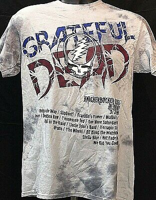 5f57359f800 The Grateful Dead Official Vintage Concert Tour Shirt Albany NY 3 24 90 Tie
