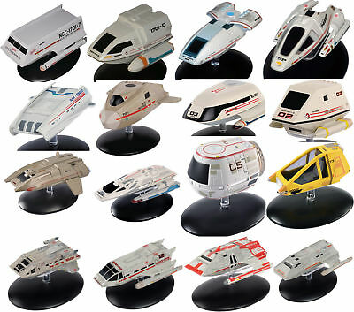 Star Trek Eaglemoss Shuttlecraft Die-Cast Ship Collection- Complete Set of 16