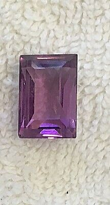 Vintage Hard To Find Rectangle 10Mm By 15Mm Amethyst Glass Jewels 8 Pcs