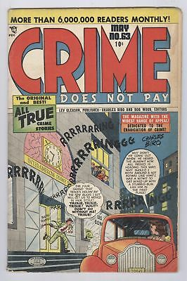 Crime Does Not Pay Comic #63 (1948) GD Lev Gleason Golden Age