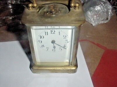 French Carriage Clock Time Only Running 4 1/8 tall without handle