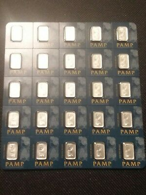 Sealed 1 Gram Multigram Pamp Suisse Platinum Bar .9995 Pure
