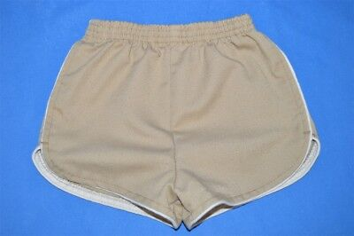 vintage 80s CARTERS BEIGE TODDLER RUNNING RUN SHORTS WHITE PIPING SIZE 2T
