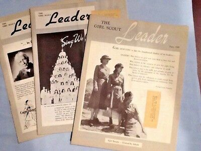 3 X Girl Scout LEADER MAGAZINE 1949, WI Convention Sr. Conference Troop Problems