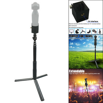 For DJI Osmo Pocket&Extension Rod Selfie Stick Tripod With 1/4 Screw Adapter NEW