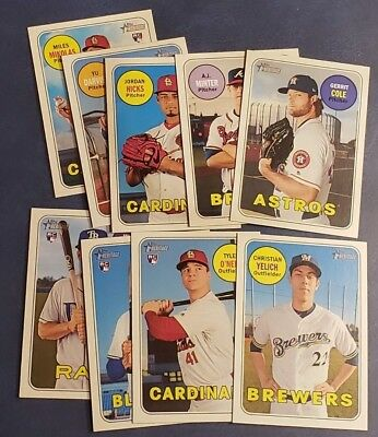 2018 Topps Heritage High Numbers Series # (501-700) Rookies You Pick From List.