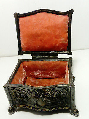 Antique Silver Plate Jewelry Casket French