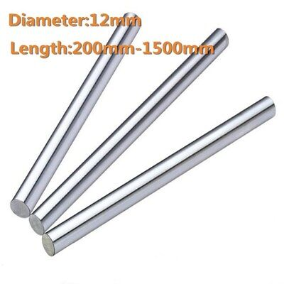 12mm/0.47inch Diameter Hardened Steel Shaft Linear Bearing Rod Rail L200-1500mm