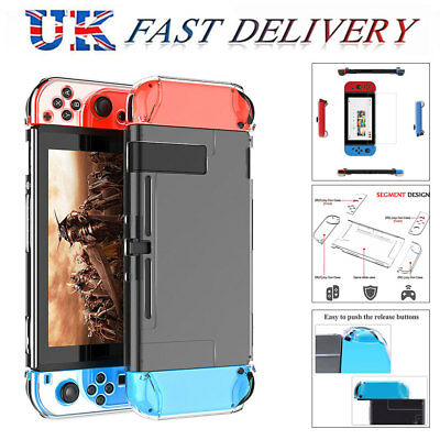 Clear Shockproof Hard Protective Case Cover For Nintendo Switch Console Game