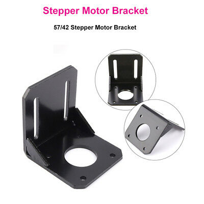 3D Printer Parts 42mm/57mm L Bracket Mount for Nema 17 /23 Stepper Motor Black