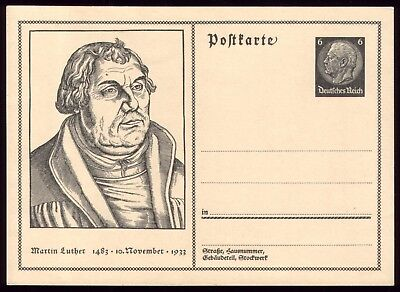Germany 1933 - Third Reich Martin Luther Anniversary Special Postcard