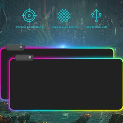 Large Size Gaming Mouse Pad Desk Mat Anti-slip Rubber Speed LED Glowing Mousepad