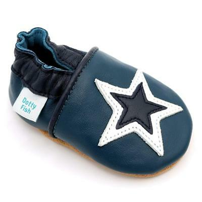 Dotty Fish Soft Leather Baby Shoes. 0-6 Months to 4-5 Years. Boys and Girls...