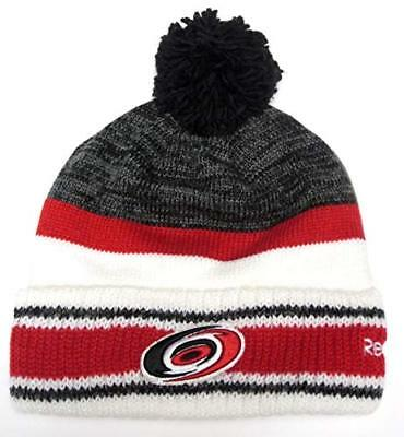 a367546395d Carolina Hurricanes NHL Reebok Center Ice Pom Knit Hat Cap Beanie Adult  Men s