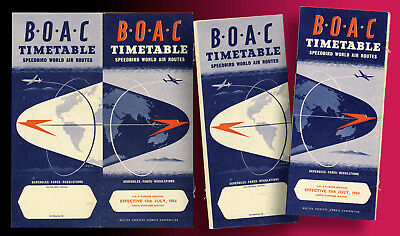 B.o.a.c. Flugplan 1954 British Overseas Airways Cooperation 32 Seiten Aerophil