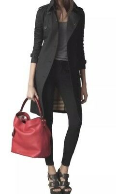 NWT Burberry Pebbled Leather Ashby Drawstring Hobo Shoulder Bag Cadmium Red d2c051ef8cf5a