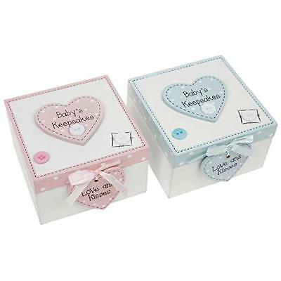 Buttons and Bows Baby's Keepsake Memory Box Christening Gift