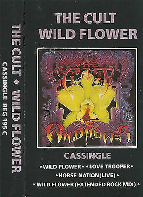 THE CULT WILD FLOWER CASSETTE SINGLE 4track Alternative Rock, Rock & Roll, Goth