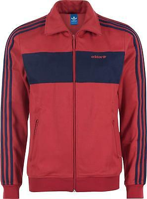 Adidas Beckenbauer Red Zip Top Size S Brand New