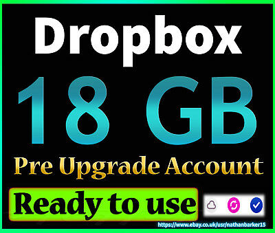Dropbox 18gb pre upgraded life time account (READY TO USE)