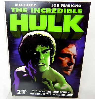 2C DVD THE INCREDIBLE HULK Double Feature TV Movies Bill Bixby Lou Ferrigno