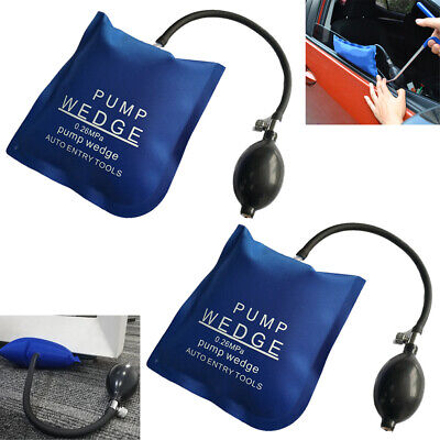 2pcs Air Pump Wedge inflatable Air Bag Car Door Emergency Entry Open Unlock Tool