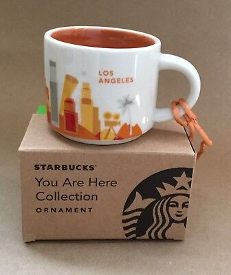 Starbucks YOU ARE HERE Collection YAH Los Angeles Mini Mug 2 Oz Ornament Cup NEW