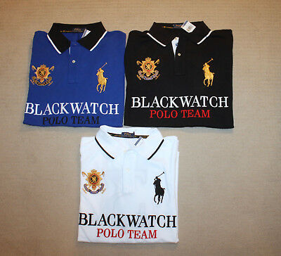 Team Pony Polo Tall Shirt Lauren Fit New Ralph Blackwatch Big And Classic DIbWEeH29Y