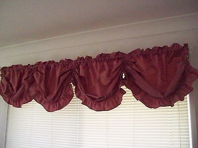 Rose Pink Water Tafetta Austrian Balloon Curtain Window Valance 280cm x 45cm