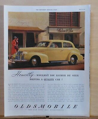 1939 magazine ad for Oldsmobile - Olds 80, Be Seen Driving a Quality Car