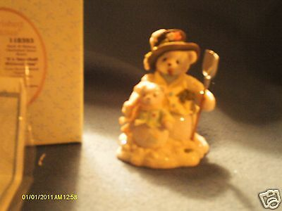 Cherished Teddies MACK & MALLORY snow bears It's snowball without you