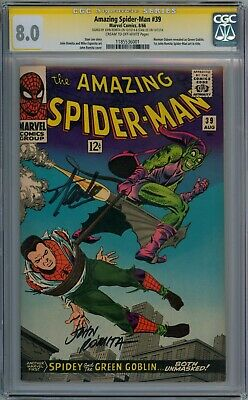 Amazing Spider-Man #39 Cgc 8.0 Signature Series Signed Stan Lee John Romita Sr