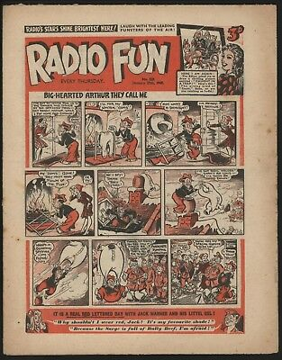 RADIO FUN #329 JAN 27th 1945 RARE WAR-TIME COMIC FROM SIGNIFICANT COLLECTION