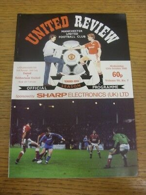 12/10/1988 Manchester United v Rotherham United [Football League Cup] (Crease).