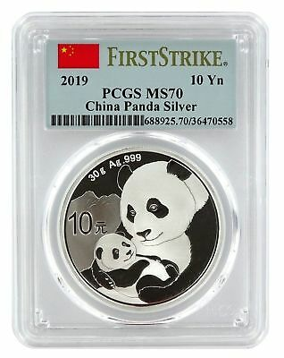 2019 Pcgs Ms-70 First Strike Silver China Panda ~ A Perfect Coin! Outstanding