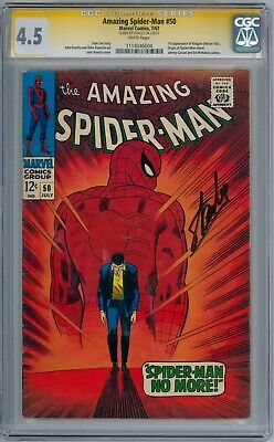 Amazing Spider-Man #50 Cgc 4.5 Signature Series Signed Stan Lee 1St Kingpin